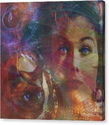 Pyewacket And Gillian - Square Version Canvas Print by John Beck