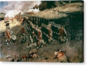 Pyle: Battle Of Bunker Hill Canvas Print
