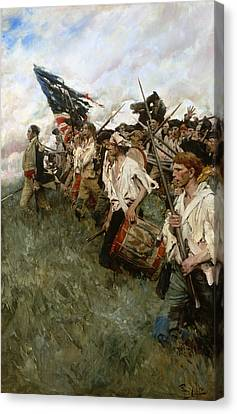 Drummer Canvas Print - Pyle: Nation Makers, 1906 by Granger