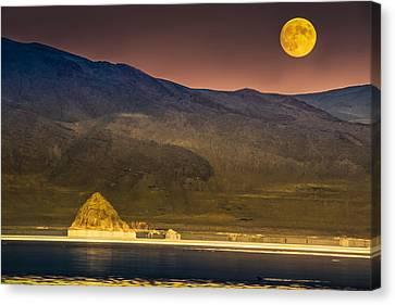 Pyramid Lake Moonrise Canvas Print