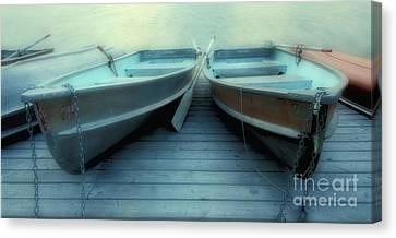 Pyramid Lake Row Boats Canvas Print by Bob Christopher