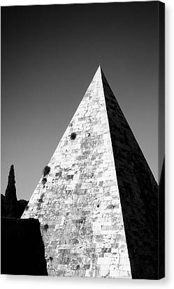 Pyramid Of Cestius Canvas Print by Fabrizio Troiani