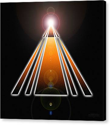 Pyramid Of Light Canvas Print by Derek Gedney