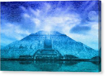 Pyramid Of The Sun Canvas Print by WB Johnston