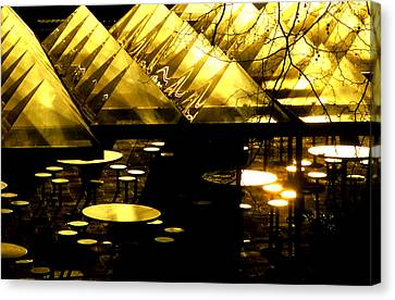 Pyramids And Saucers Canvas Print