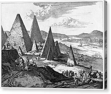Pyramids Canvas Print by Cci Archives
