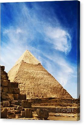 Pyramids In Egypt  Canvas Print by Jelena Jovanovic