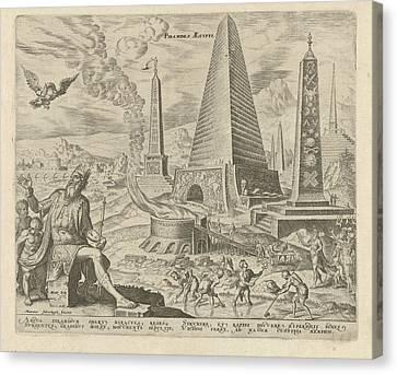 Pyramids Of Egypt, Philips Galle, Hadrianus Junius Canvas Print
