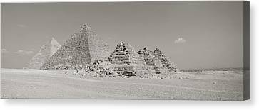 Pyramids Of Giza, Egypt Canvas Print by Panoramic Images