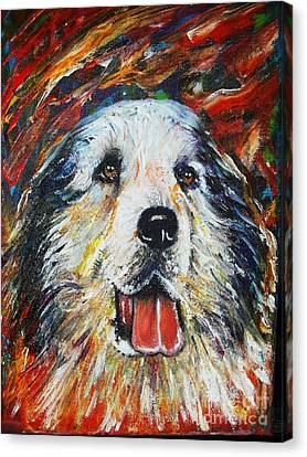 Pyrenean Mountain Dog Canvas Print by Anastasis  Anastasi