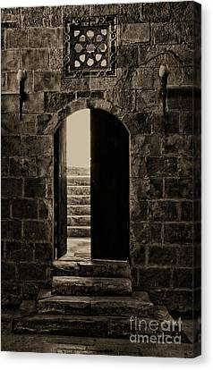 Qalawun Doorway Cairo Canvas Print by Nigel Fletcher-Jones