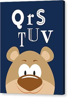 Qrstuv Animals Canvas Print by Tamara Robinson