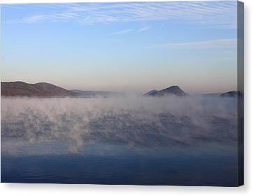 Quabbin Reservoir Morning Fog Canvas Print