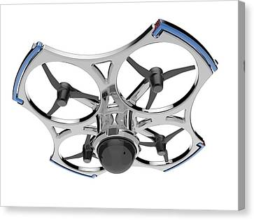 Quadcopter Air Drone With Camera Canvas Print by Alfred Pasieka