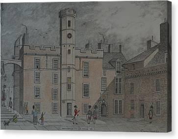 Quadrangle Edinburgh Castle Canvas Print