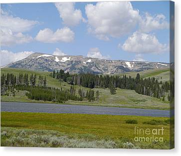Quadrant Mountain - Gallatin Range Canvas Print by Christiane Schulze Art And Photography