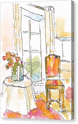 Quai Aux Fleurs - Paris Canvas Print by Pat Katz