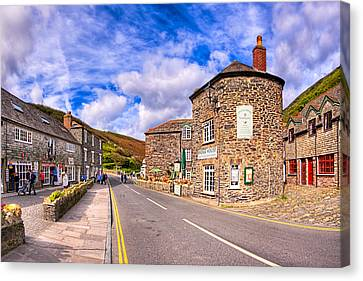 Beauty Mark Canvas Print - Quaint Cornwall In The Little Village Of Boscastle by Mark E Tisdale