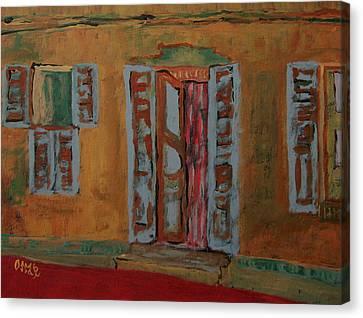 Quaint Home Canvas Print by Oscar Penalber