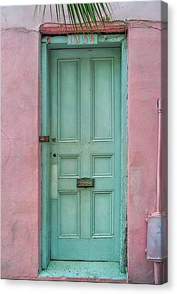 Quaint Little Door In The Quarter Canvas Print by Brenda Bryant