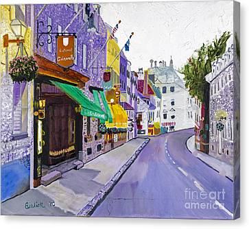 Quaint Quebec City By Stan Bialick Canvas Print