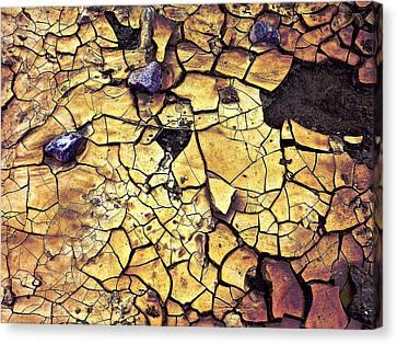 Canvas Print featuring the sculpture Quaken Earth by Dan Redmon