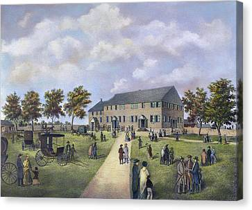 Quaker Meeting House, 1857 Canvas Print by Granger