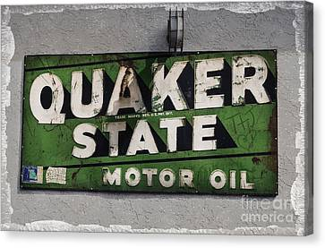 Quaker State Motor Oil Canvas Print by Janice Rae Pariza