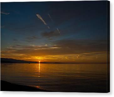 Qualicum Sunset II Canvas Print by Randy Hall