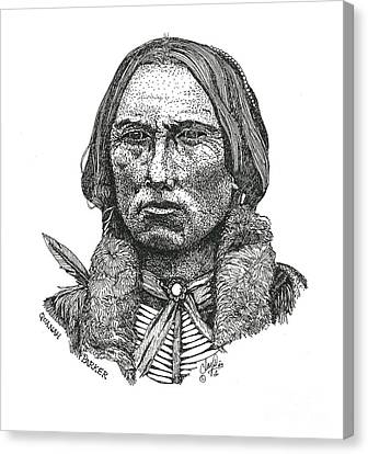 Quanah Parker Canvas Print by Clayton Cannaday