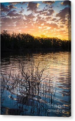 Quanah Parker Lake Sunrise Canvas Print by Inge Johnsson