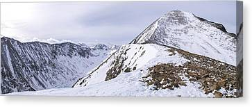 Quandary Peak Panorama Canvas Print by Aaron Spong