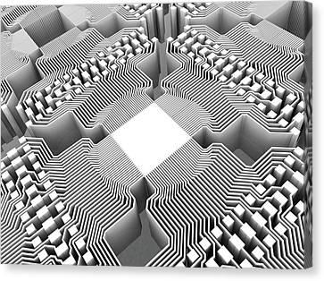 Quantum Compute Canvas Print by Alfred Pasieka