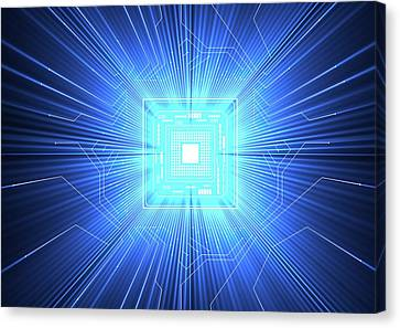Quantum Computer Canvas Print by Alfred Pasieka
