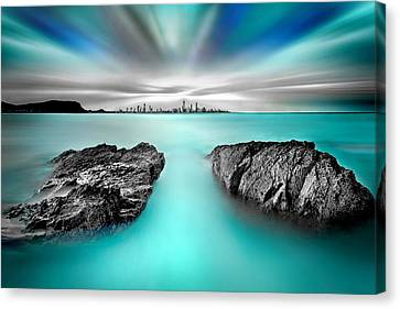 Quantum Divide Canvas Print by Az Jackson