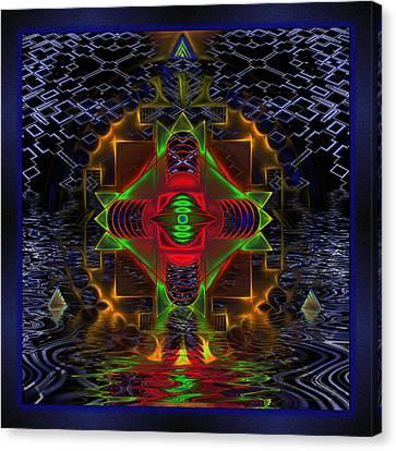 Tron Canvas Print - Quantum Mystery by Mario Carini