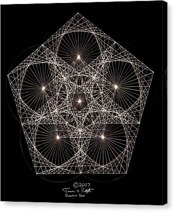 Sine Canvas Print - Quantum Star II by Jason Padgett