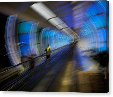 Canvas Print featuring the photograph Quantum Tunneling by Alex Lapidus