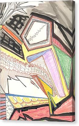 Quarrel Canvas Print by Donna Crist