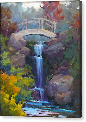 Quarry Hills Waterfall Canvas Print by Carol Smith Myer