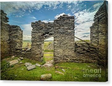 Barrack Canvas Print - Quarry Ruin by Adrian Evans