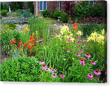 Canvas Print featuring the photograph Quarter Circle Garden by Kathryn Meyer