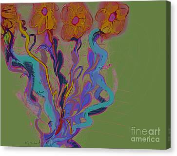 Canvas Print featuring the digital art Quartet by Gabrielle Schertz