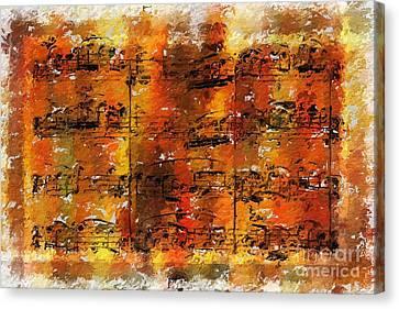 Canvas Print featuring the digital art Quartexture 2 by Lon Chaffin