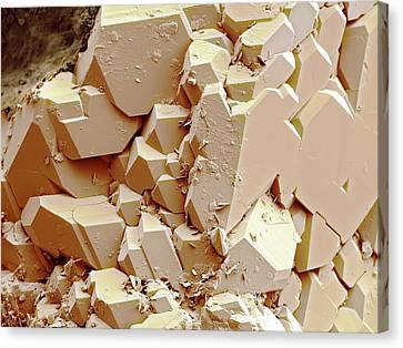 Quartz Crystals Canvas Print