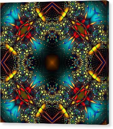 Quasar Kaleidoscope No 1 Canvas Print
