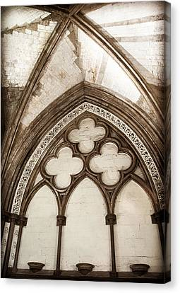 Quatrefoil Arch Canvas Print by Karen Varnas