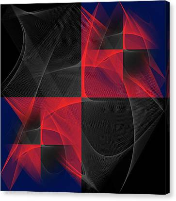 Canvas Print featuring the digital art Quatrin by Karo Evans