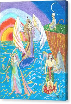 Quatuor Canvas Print by Valerie Bessette