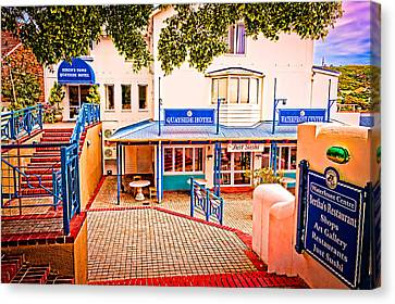 Quayside Hotel Of Simon's Town Canvas Print by Cliff C Morris Jr